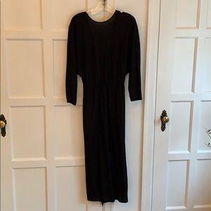 Black long sleeve Zara dress - Midi length